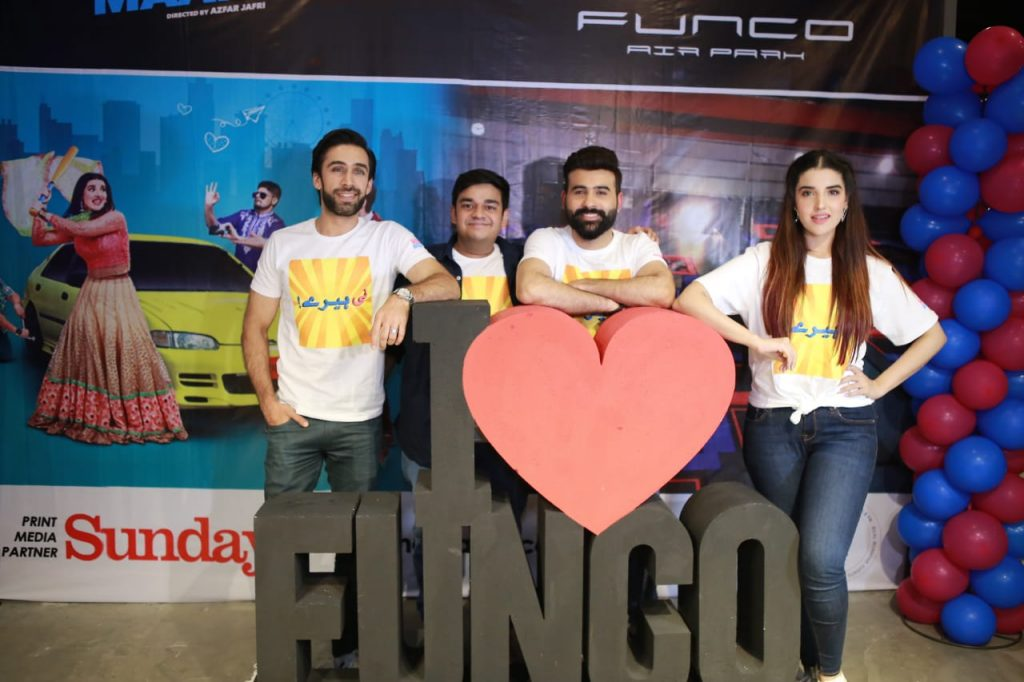 Heer Maan Ja Promotion 50 Ali Rehman with Hareem Farroq at Funco Lahore