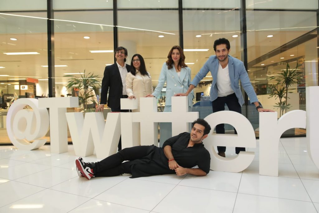 Mahira Khan visits Twitter HQ with Bilal Ashraf in London 9th August 2019 5 Bilal Ashraf and Mahira with javed Khan at Twitter HQ london