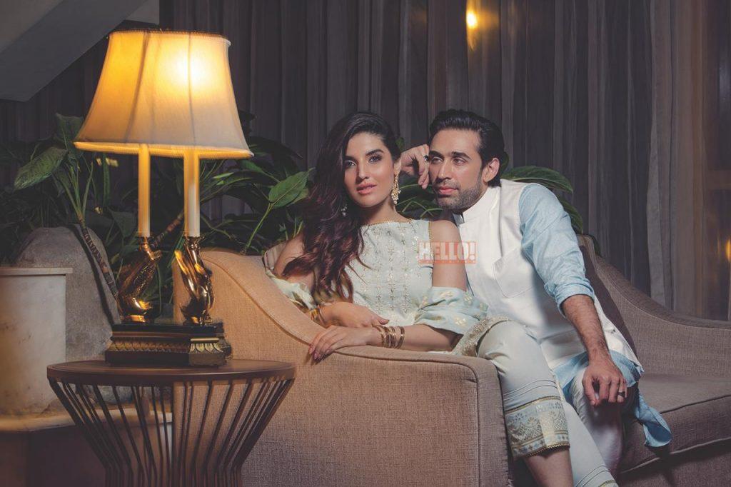 Hareem Farooq Wardrobe By Pakistani Designers | wearing Maria B 13 Hareem Farooq Ali Rehman Photoshoot