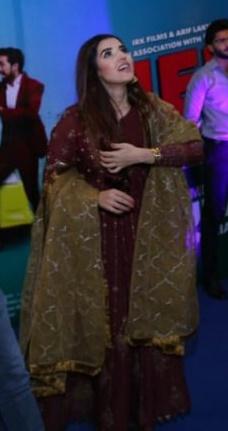 Hareem Farooq Wardrobe By Pakistani Designers | wearing Maria B 29 Hareem Farooq maria B Dress