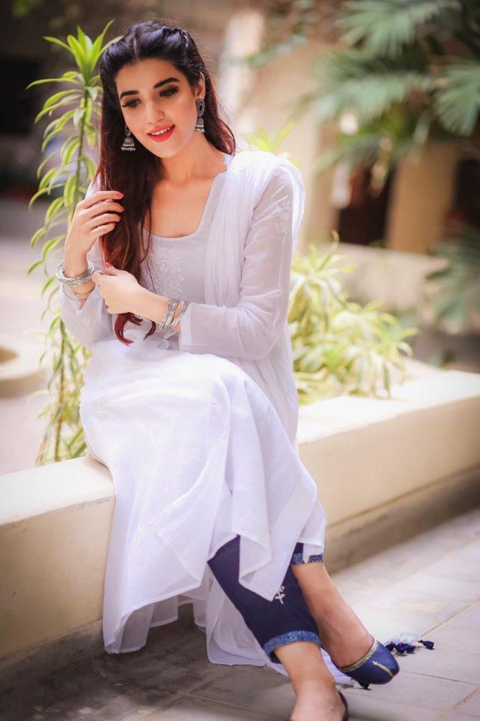 Hareem Farooq Wardrobe By Pakistani Designers | wearing Maria B 19 Hareem Farooq wearing Boheme clothing