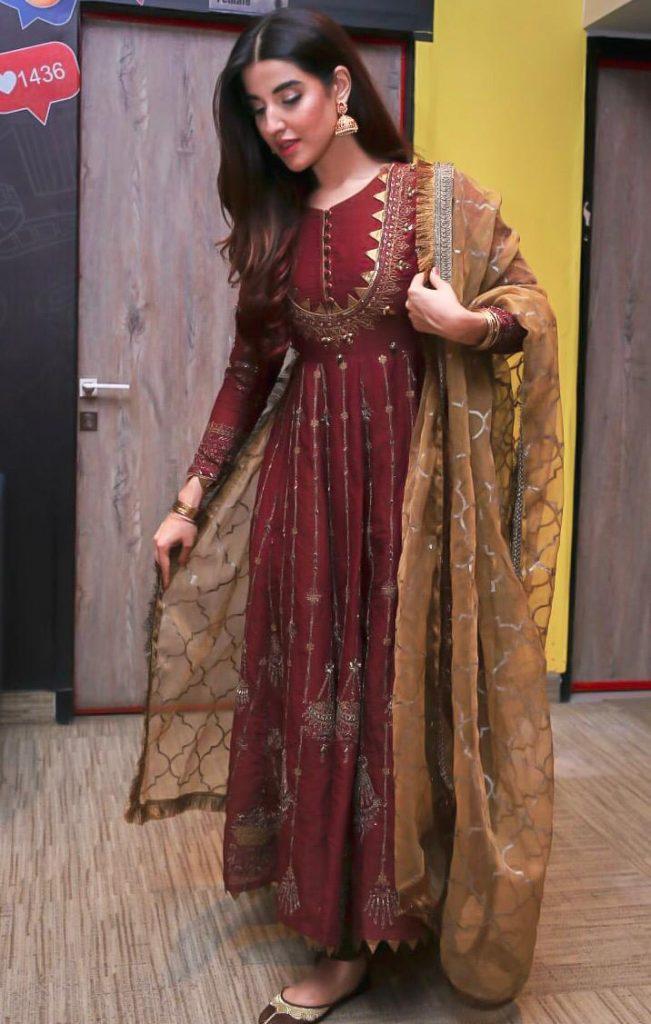 Hareem Farooq Wardrobe By Pakistani Designers | wearing Maria B 27 Hareem Farooq wearing Maria B eid collection