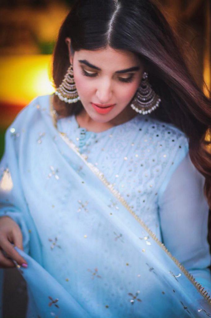 Hareem Farooq Wardrobe By Pakistani Designers | wearing Maria B 24 Hareem Farooq wearing Sania Maskatiya Designer