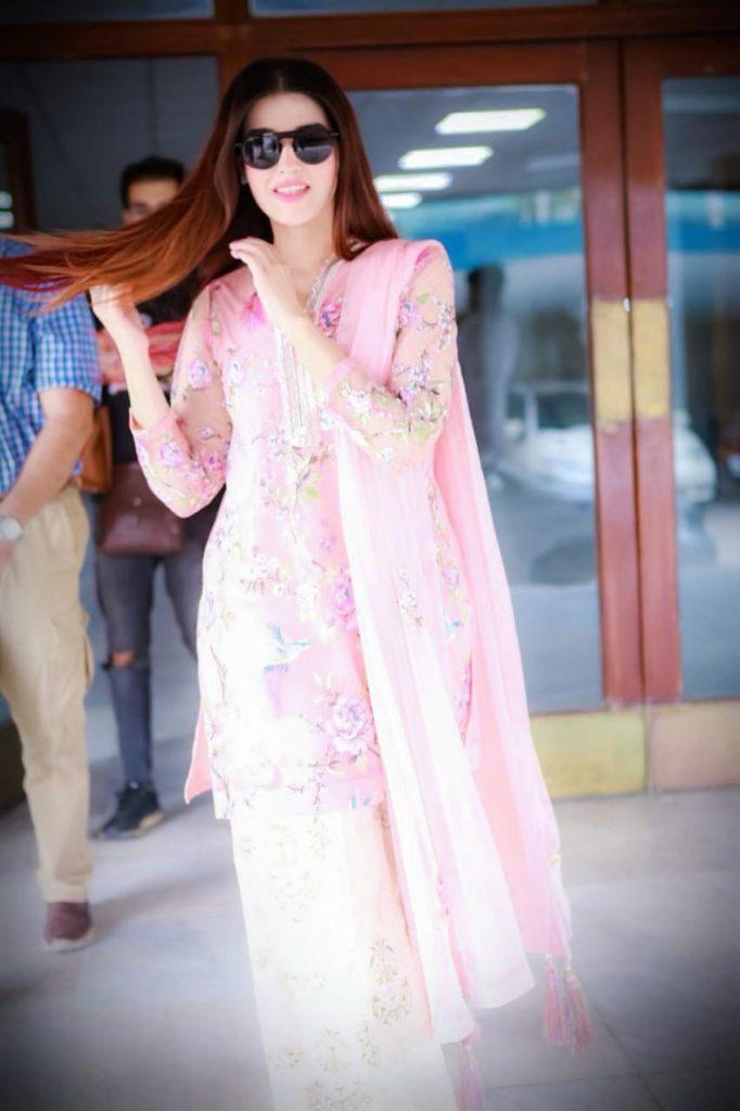 Hareem Farooq Wardrobe By Pakistani Designers | wearing Maria B 18 Hareem Farooq wearing Sapphire Pakistan