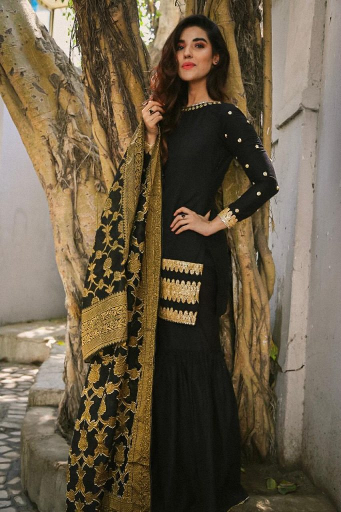 Hareem Farooq Wardrobe By Pakistani Designers | wearing Maria B 7 Hareem Farooq wearing Zainabchottaniofficial 1