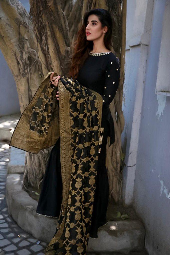 Hareem Farooq Wardrobe By Pakistani Designers | wearing Maria B 5 Hareem Farooq wears Zainab Chottani Clothing