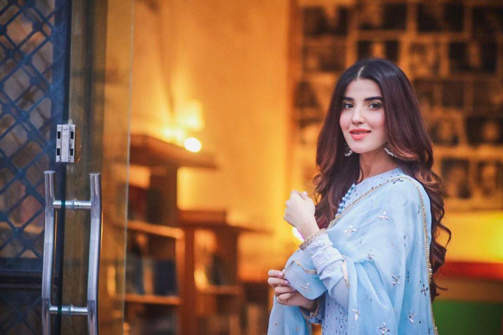 Hareem Farooq Wardrobe By Pakistani Designers | wearing Maria B 22 Hareem farooq Sania Maskatiya