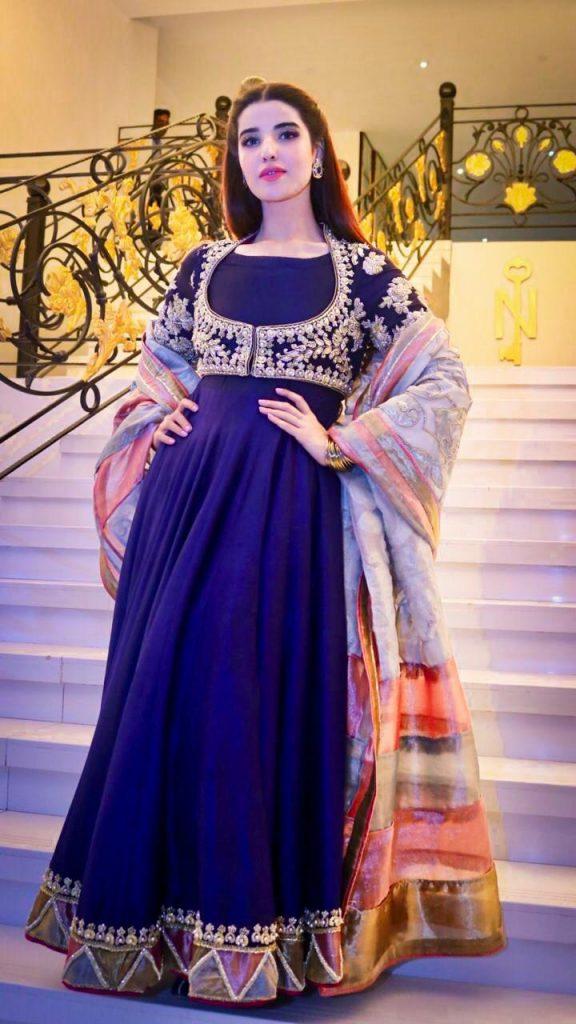 Hareem Farooq Wardrobe By Pakistani Designers | wearing Maria B 33 Hareem farooq maxi