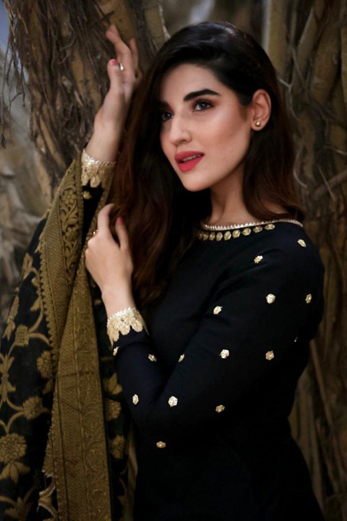 Hareem Farooq Wardrobe By Pakistani Designers | wearing Maria B 10 Hareem wearing Zainab Chottani