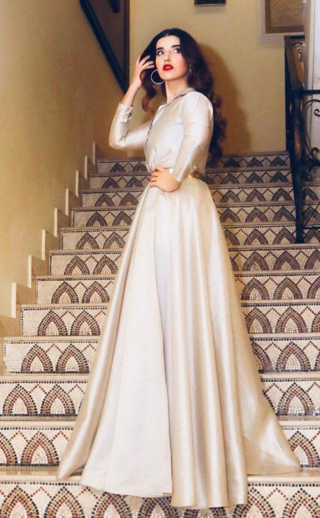 Hareem Farooq Wardrobe By Pakistani Designers | wearing Maria B 4 Hareem wearing saira rizwan outfit