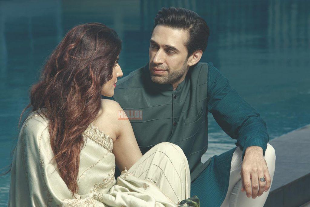 Hareem Farooq Wardrobe By Pakistani Designers | wearing Maria B 15 Hareem with ali rehman