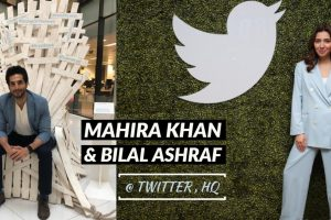 Mahira Khan visits Twitter HQ with Bilal Ashraf