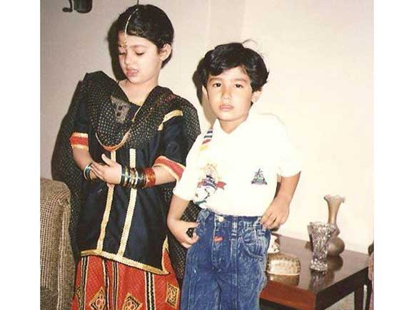 Mahira Khan with her brother