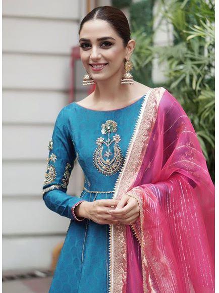 Maya Ali wearing Adnan Sari