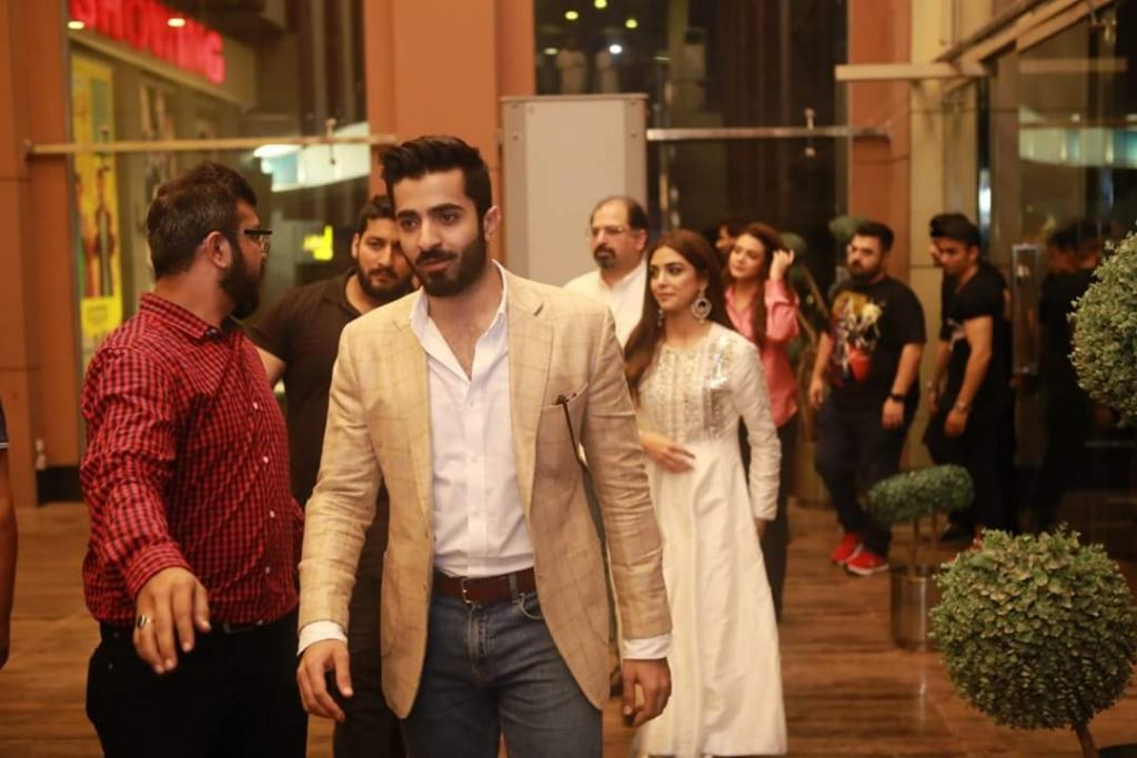 Maya Ali and Sheheryaar Munawar Parey Hut Love promotion in Giga Mall