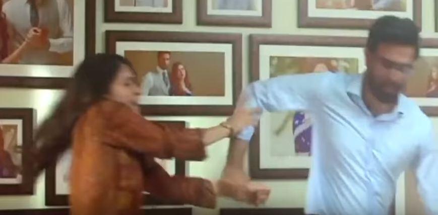 Arij Fatyma and Noor Hassan in Hasad last episode