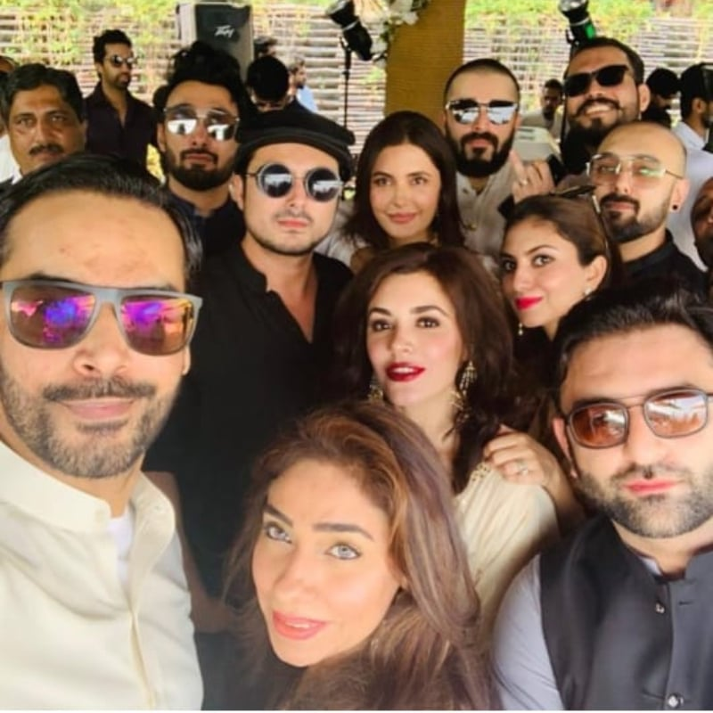 Gohar Rasheed on Hamza Abbasi's Wedding