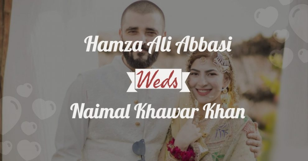 hamza ali abbasi marriage with naimal khawar khan