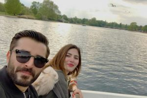 Hamza Ali Abbasi with Naimal Khawar Khan