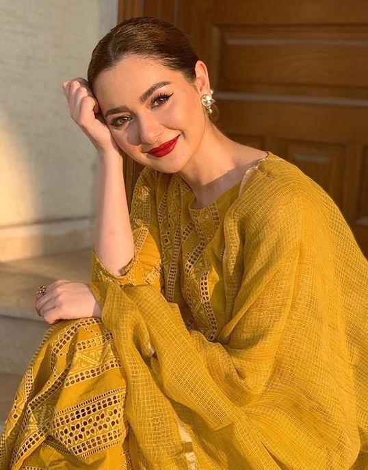 Hania Amir Pearl white dress