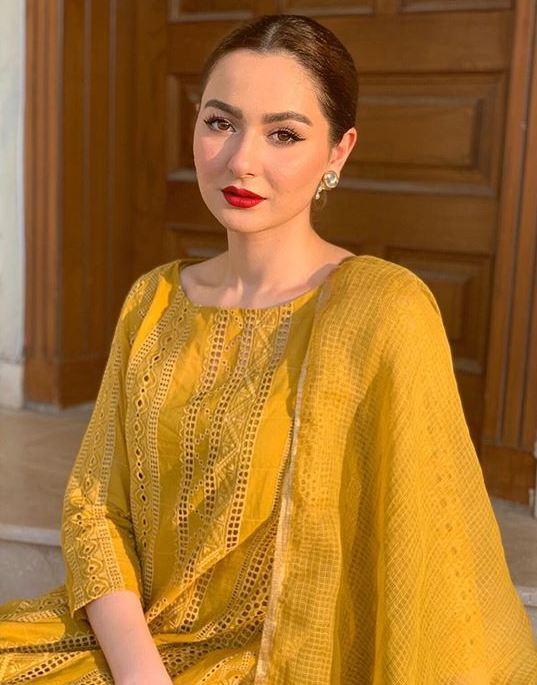 Hania Amir Yellow Dress