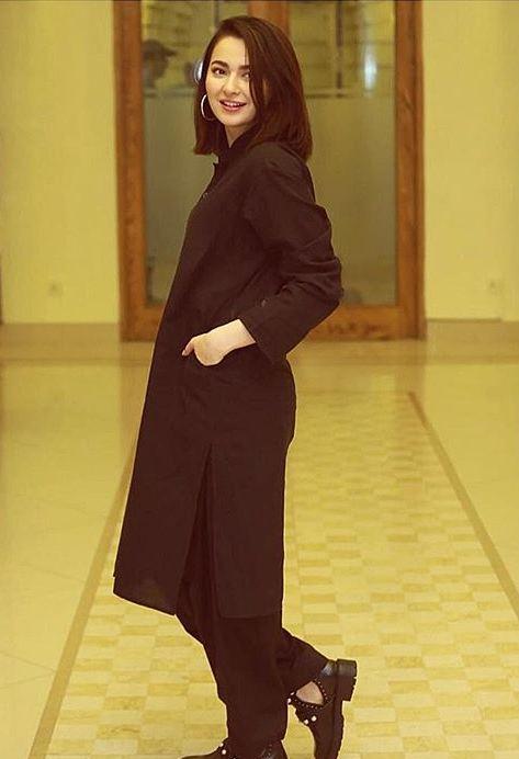 Hania Amir Black Suit