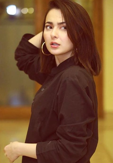 Hania Amir in Black
