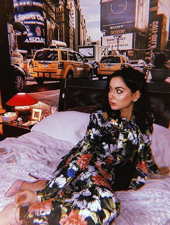 Hania Amir in Printed Blazer Suit