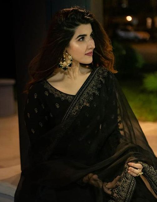 Hareem Farooq in Black Dress