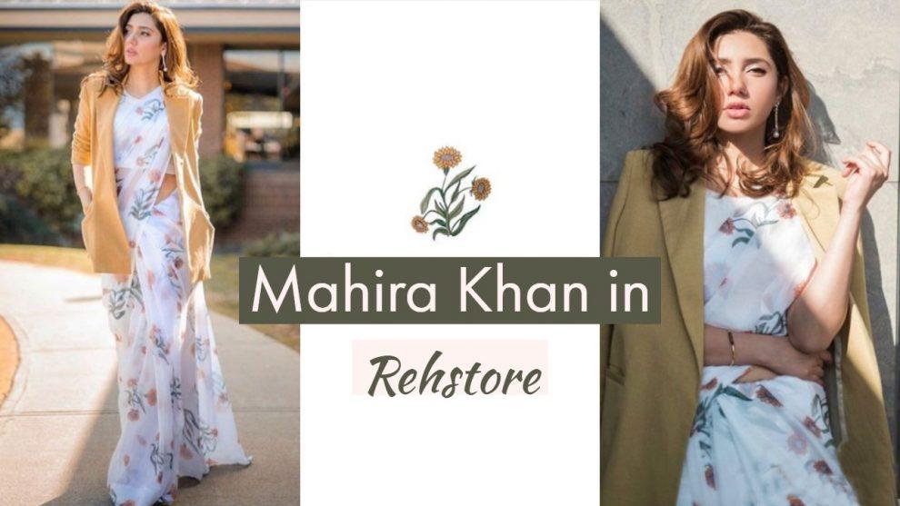 Mahira Khan in Rehstore Saree