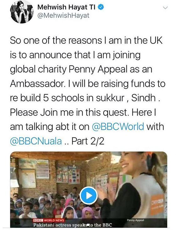 Mehwish Hayat Joins Global Charity Penny Appeal 1 mehwish hayat