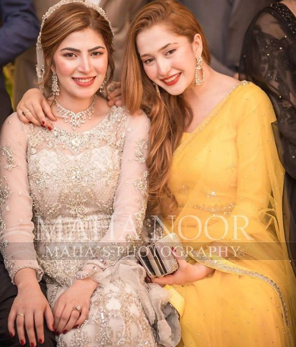Naimal Khawar Khan with her sister