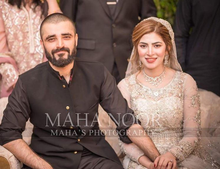 Hamza Ali Abbasi and Naimal Khawar Khan valima
