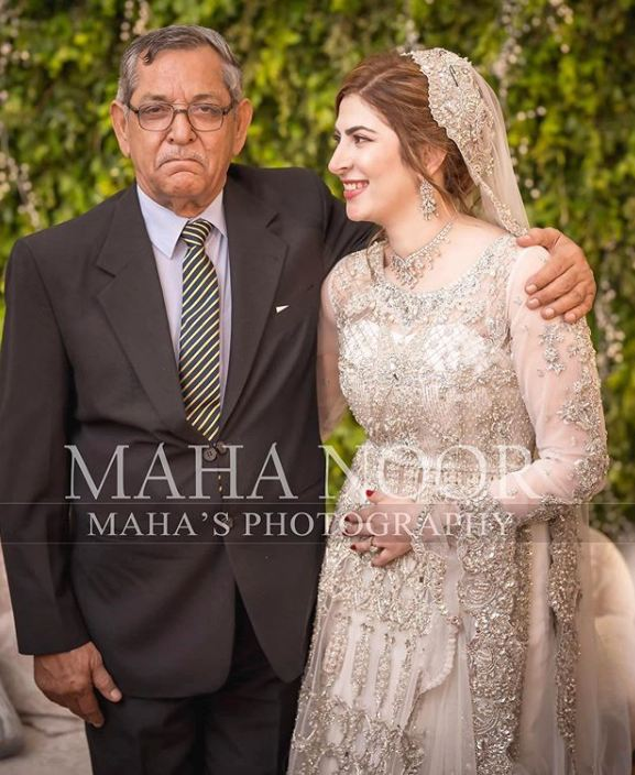 Naimal Khawar Khan with her Father