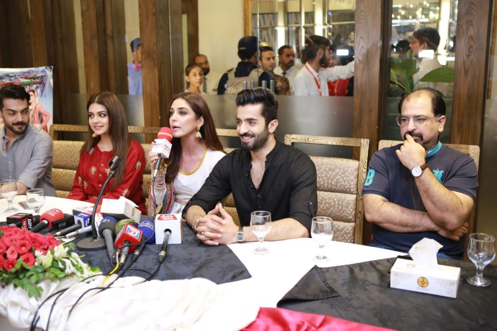 Parey Hut Love Promotions 2019| Dates , Dressing, Cast 11 parey hut love cast press conference