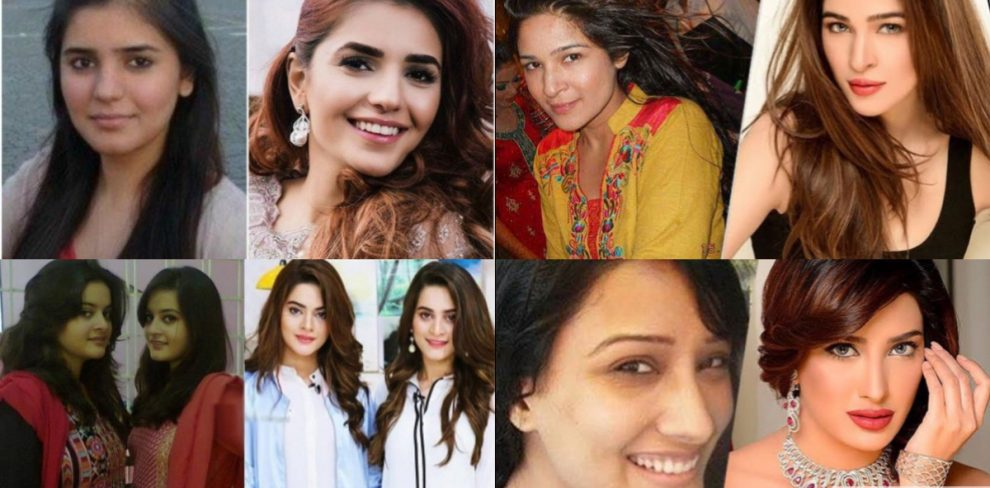 Pakistani Actresses Before and After Success