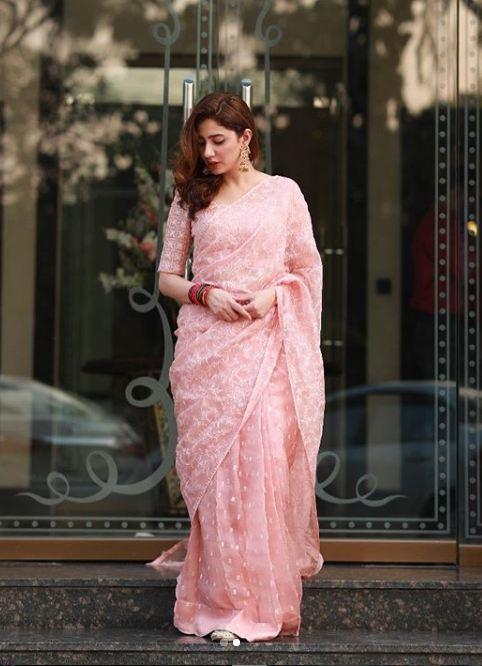 Mahira Khan Pink Dress