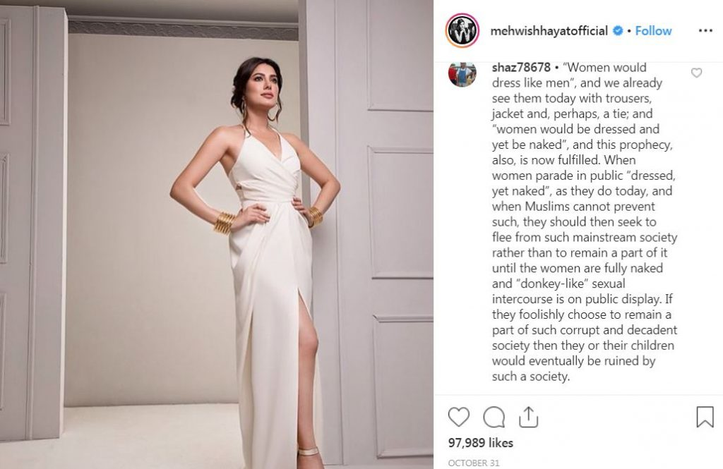 What Pakistani People Think on Top Pakistani Actresses Bold Pictures 6 mehwish hayat criticised3