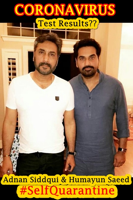 Adnan Siddiqui and Humayun Saeed Coranavirus self isolate together