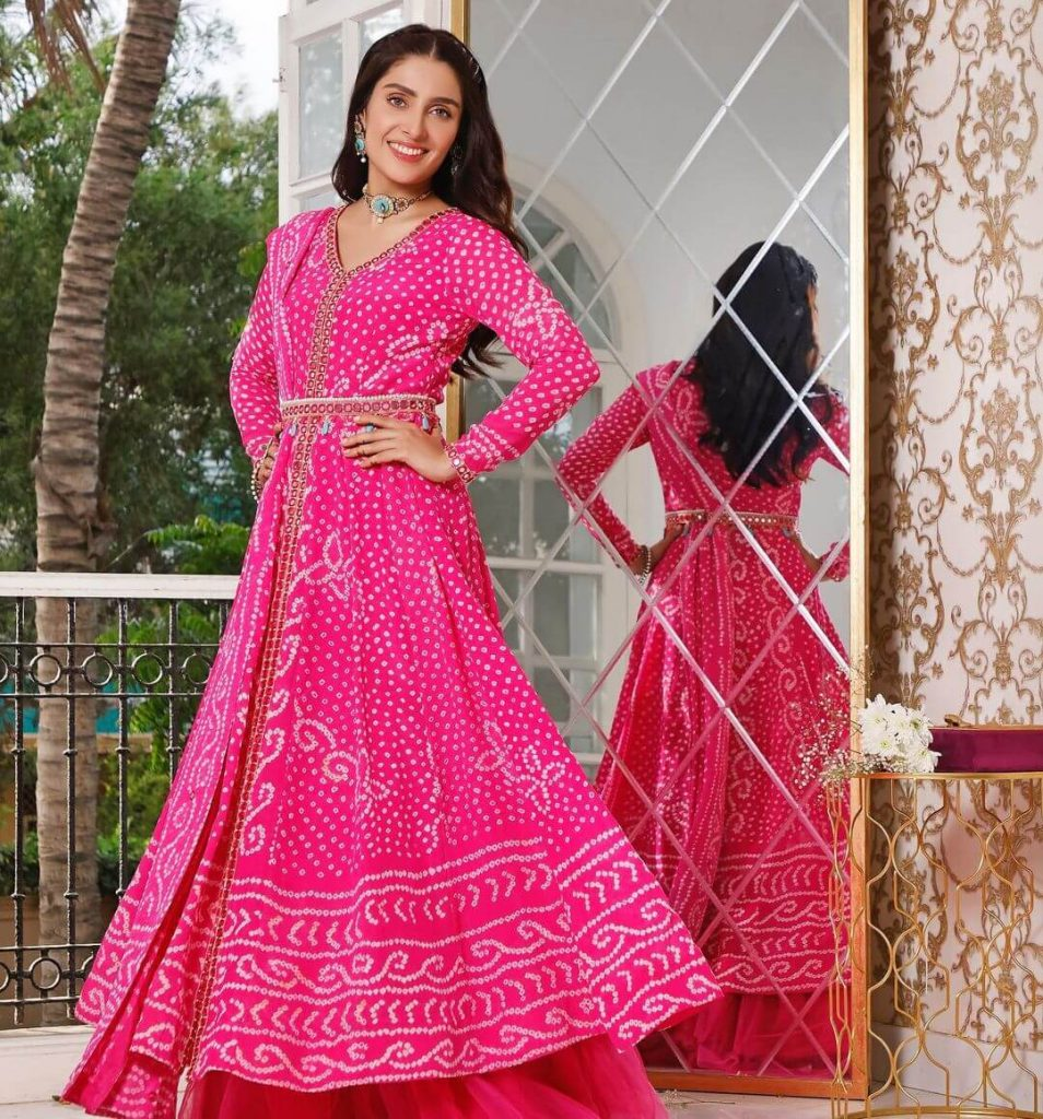Ayeza Khan Pink Dress Collection