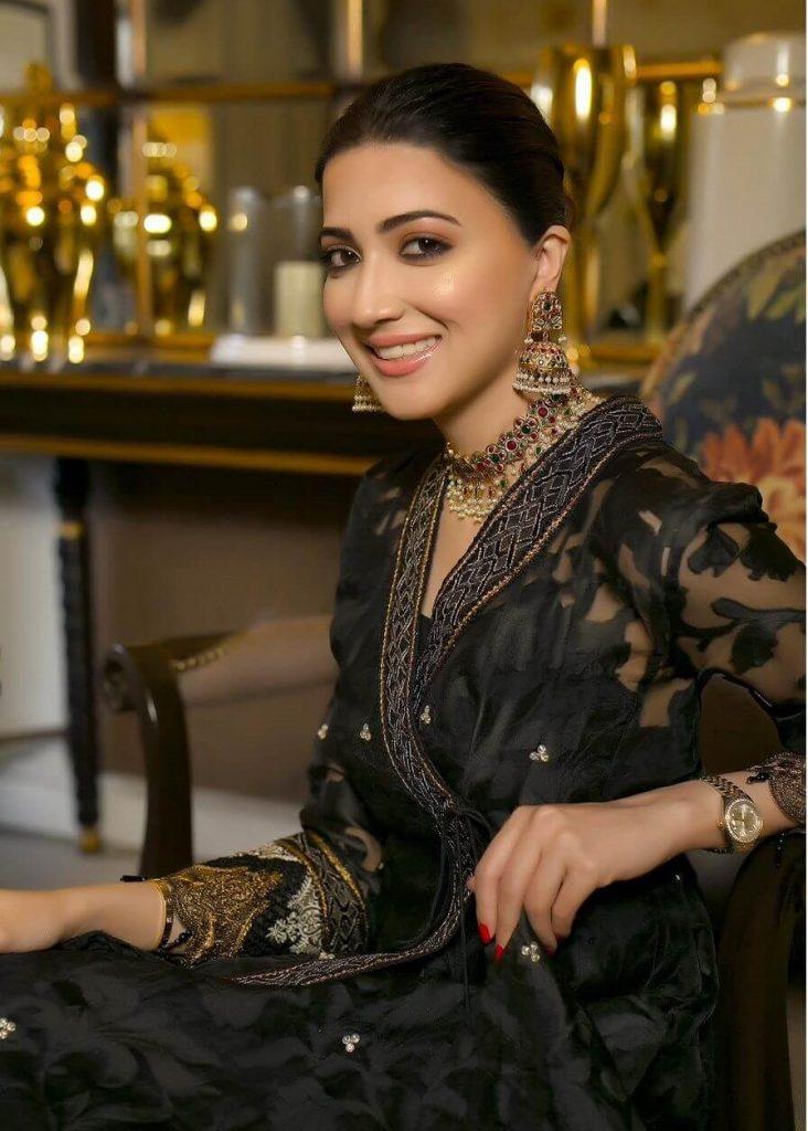 Aymen Saleem Black Dress