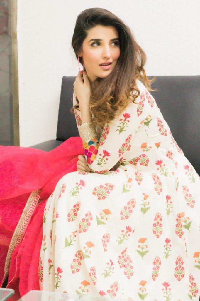 Hareem Farooq Wardrobe By Pakistani Designers | wearing Maria B 1 Hareem Farooq dress by Maria B Eid collection