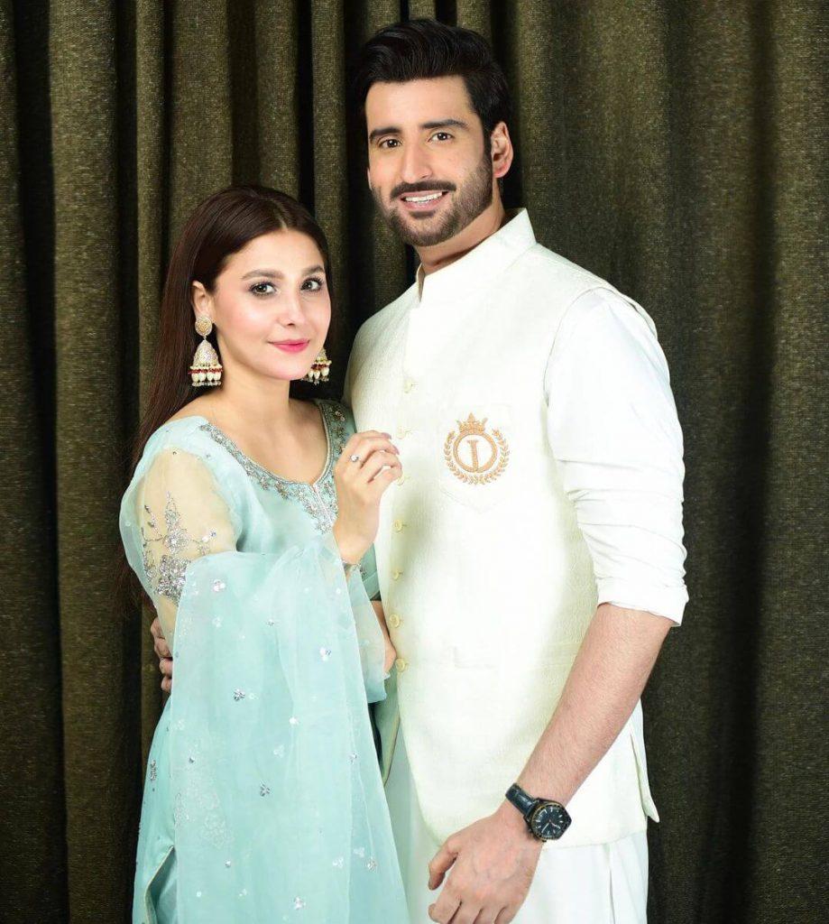 Hina Altaf Dress on Eid