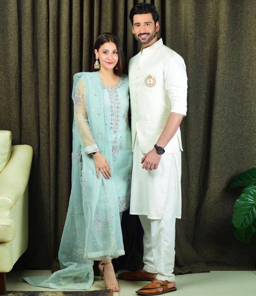 Hina Altaf with her Husband