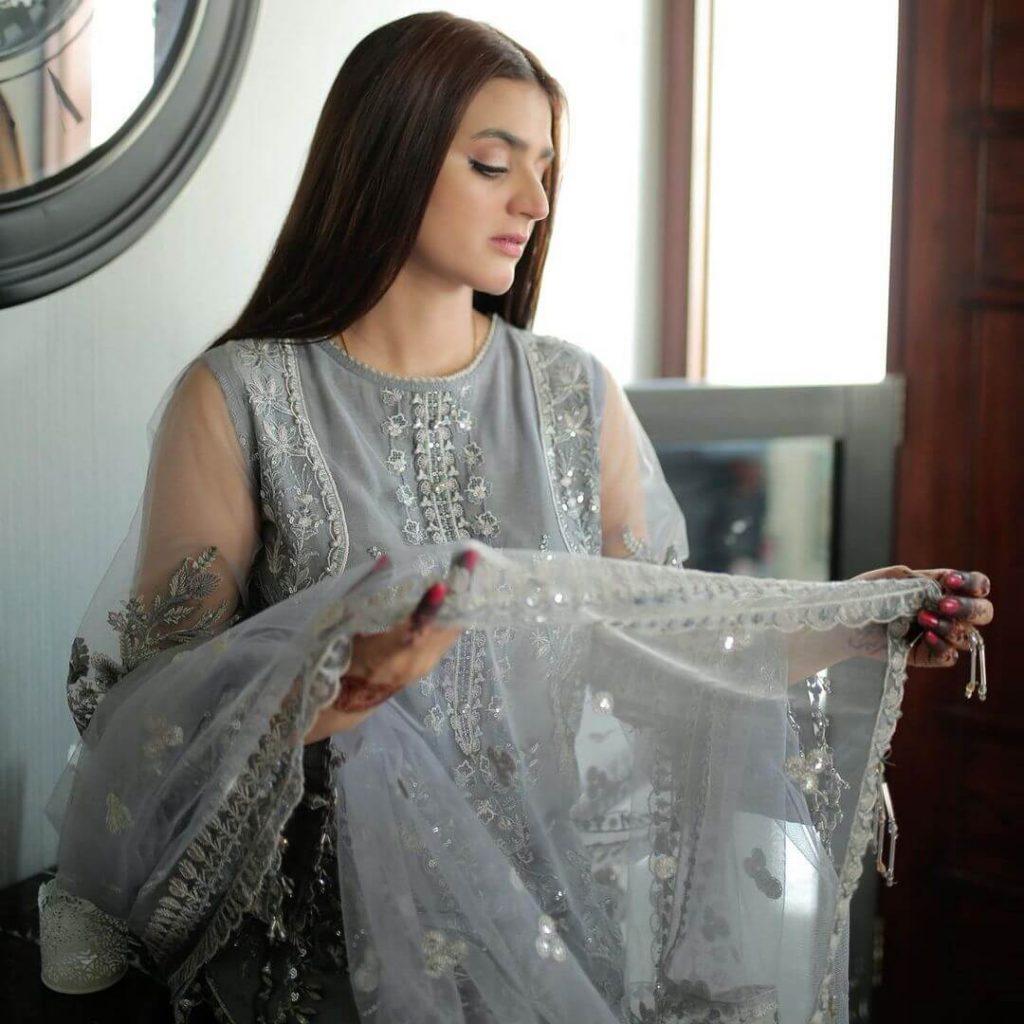 Hira Mani Gray Dress