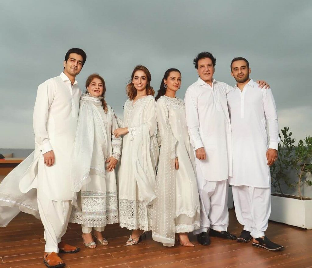 Javed Sheikh Family picture on Eid