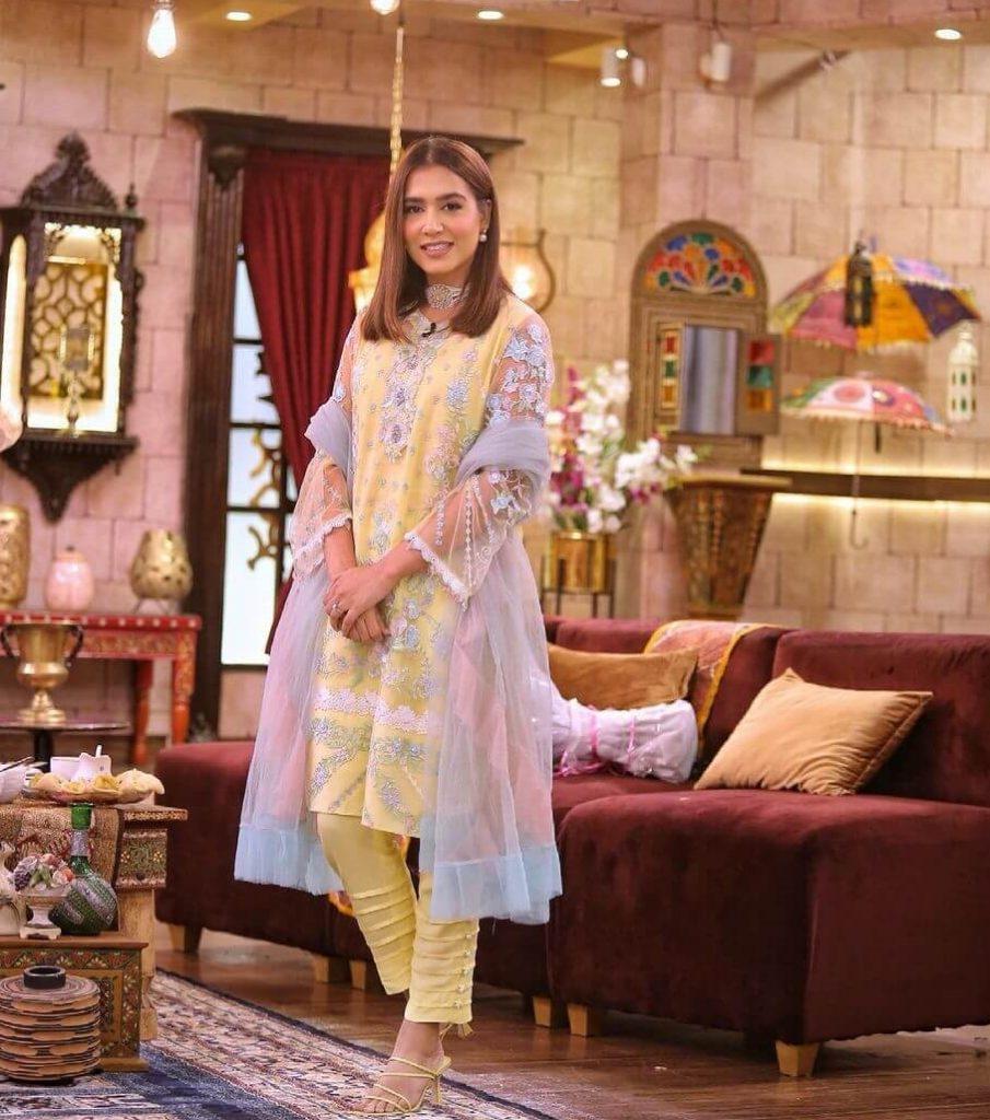 Mansha Pasha Yellow Eid Dress