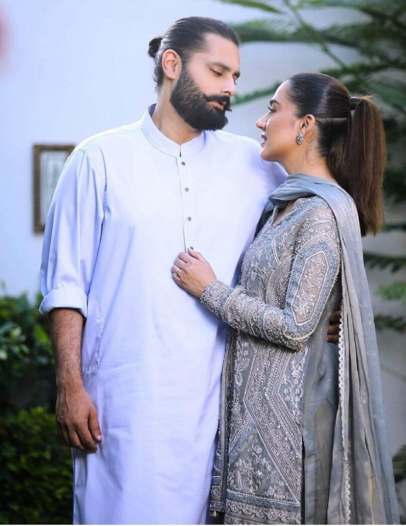 Mansha Pasha with her Husband