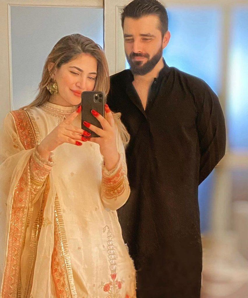 Naimal Khawar with Her Husband