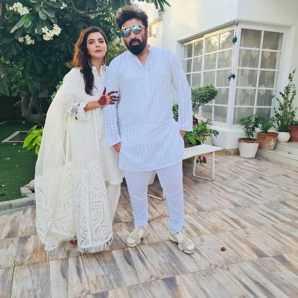 Nida Yasir with her Husband